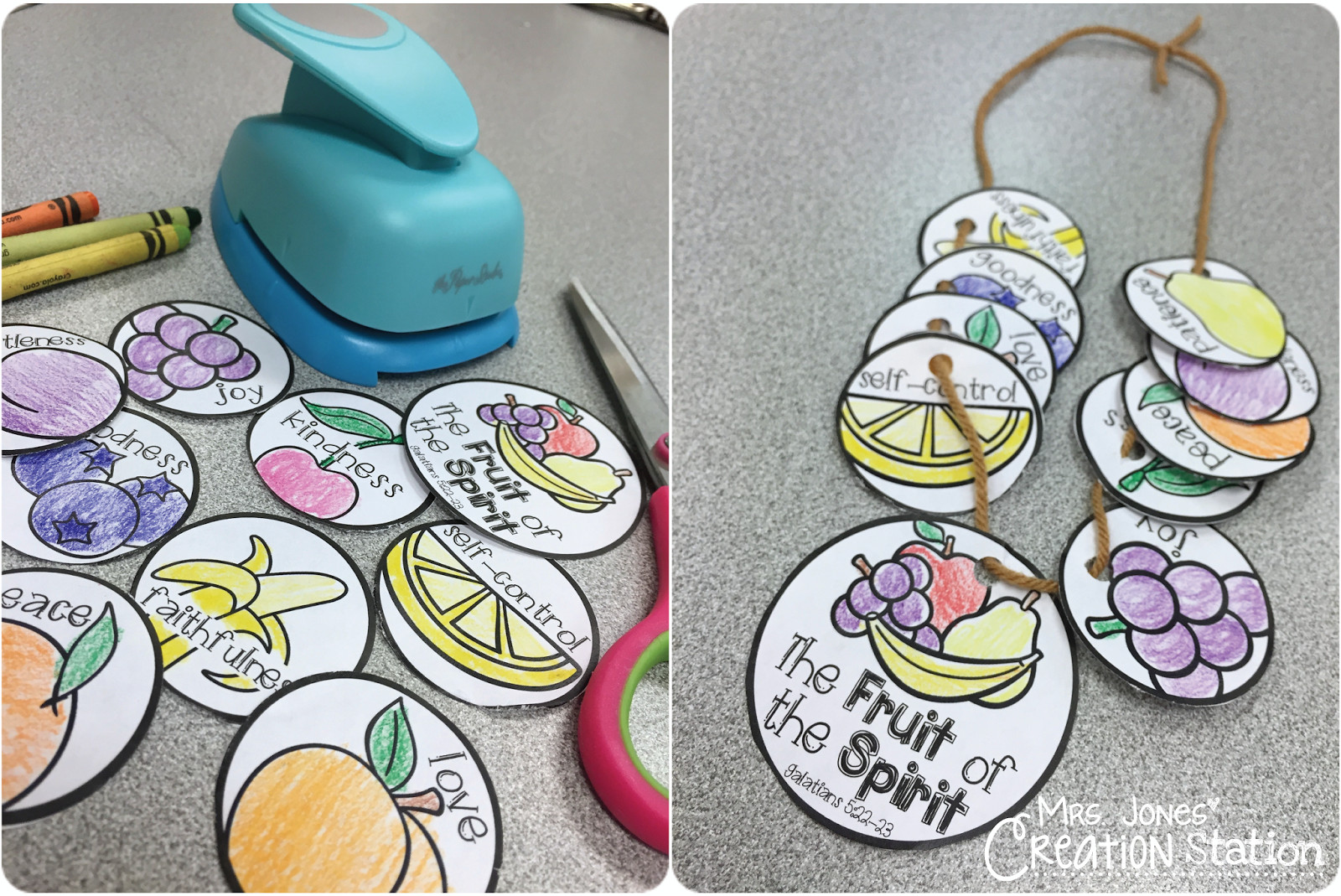 Best ideas about Fruit Of The Spirit Crafts For Kids . Save or Pin The Fruit of the Spirit Necklace Mrs Jones Creation Now.