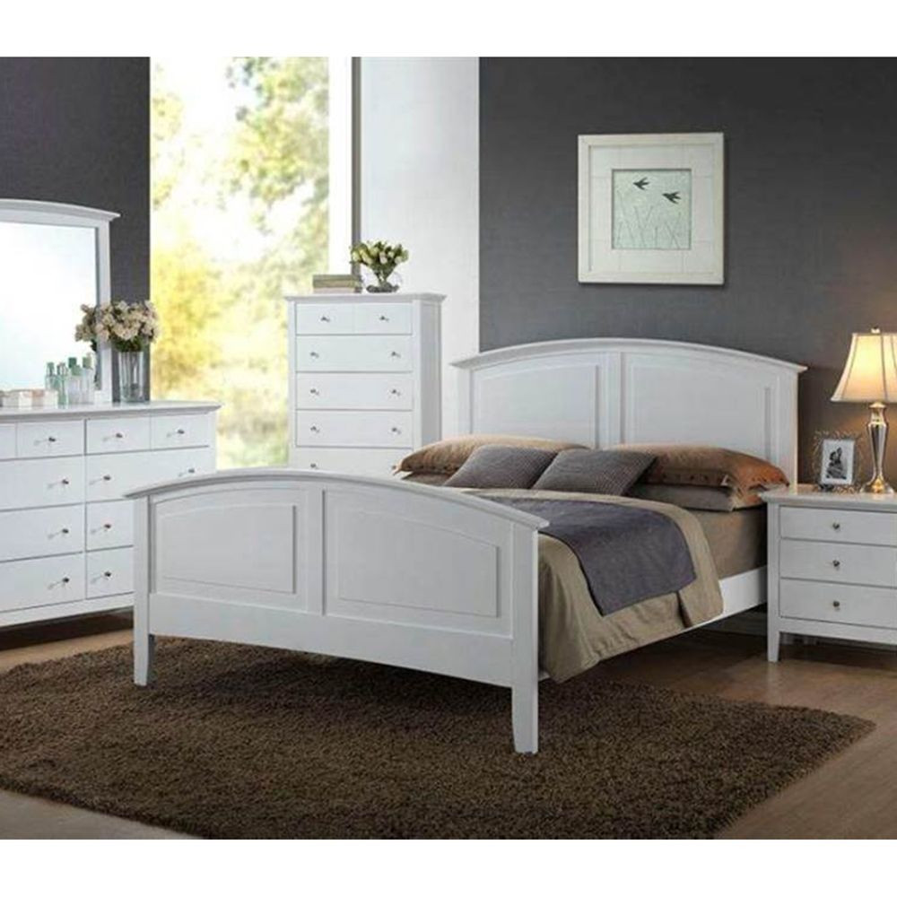 Best ideas about Full Bedroom Set . Save or Pin Modern Furniture Whiskey Bedroom Set 1Pc White Full Size Now.