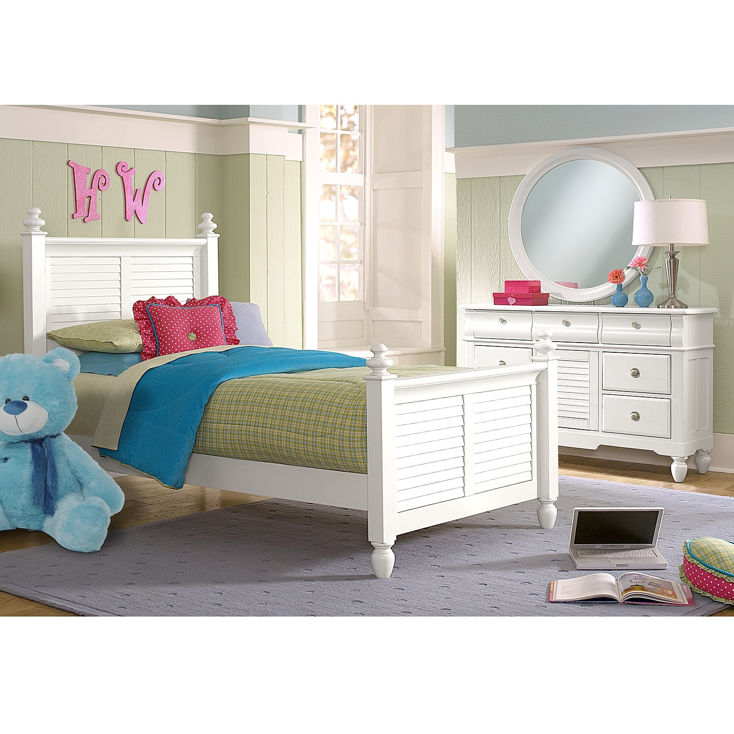 Best ideas about Full Bedroom Set . Save or Pin Seaside 6 Piece Full Bedroom Set with Trundle White Now.