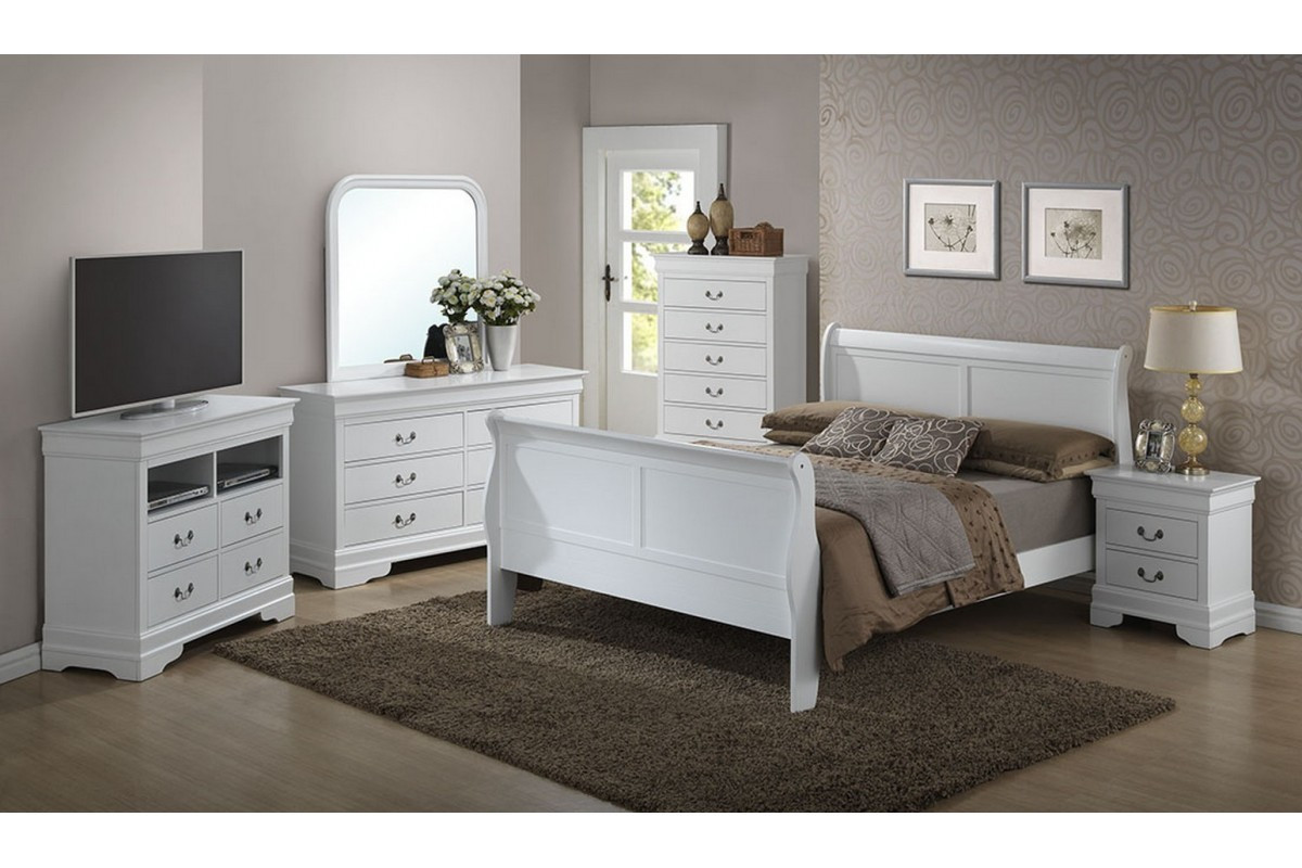 Best ideas about Full Bedroom Set . Save or Pin Bedroom Sets Dawson White Full Size Bedroom Set Now.