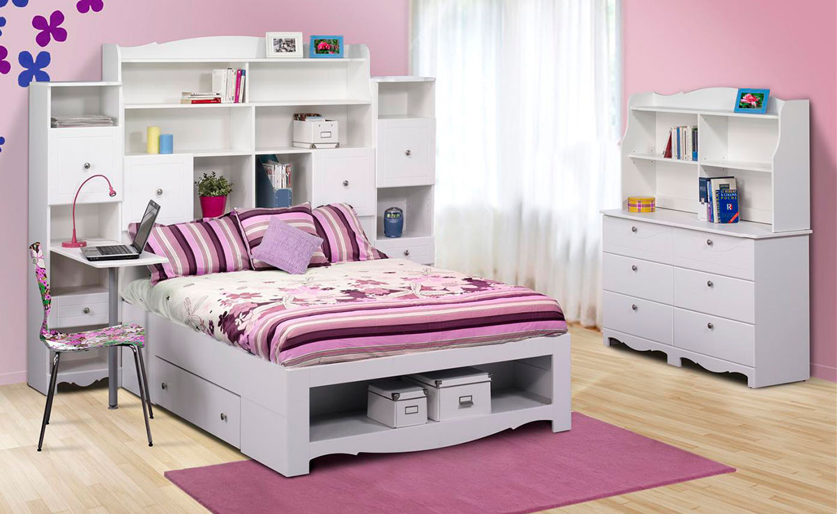 Best ideas about Full Bedroom Set . Save or Pin Nexera Pixel Youth Full Size Tall Bookcase Storage Bedroom Now.