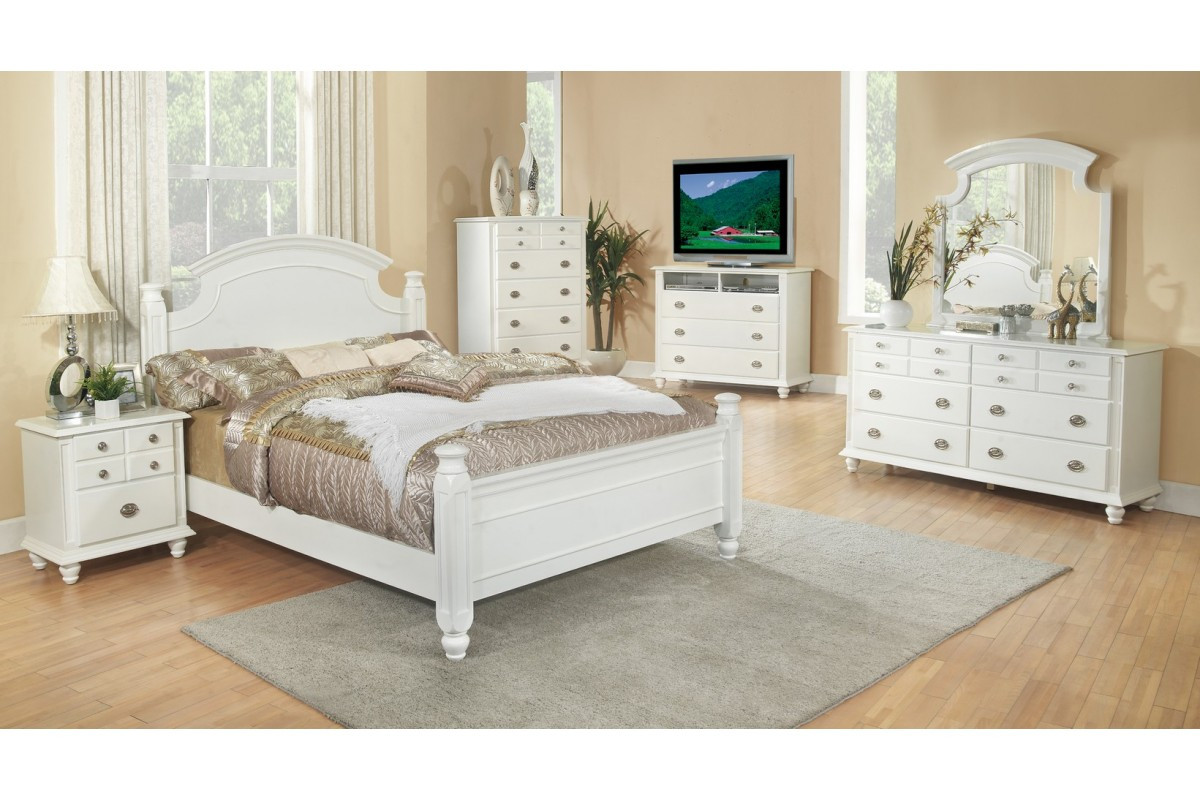 Best ideas about Full Bedroom Set . Save or Pin Bedroom Sets Freemont White Full Size Bedroom Set Now.