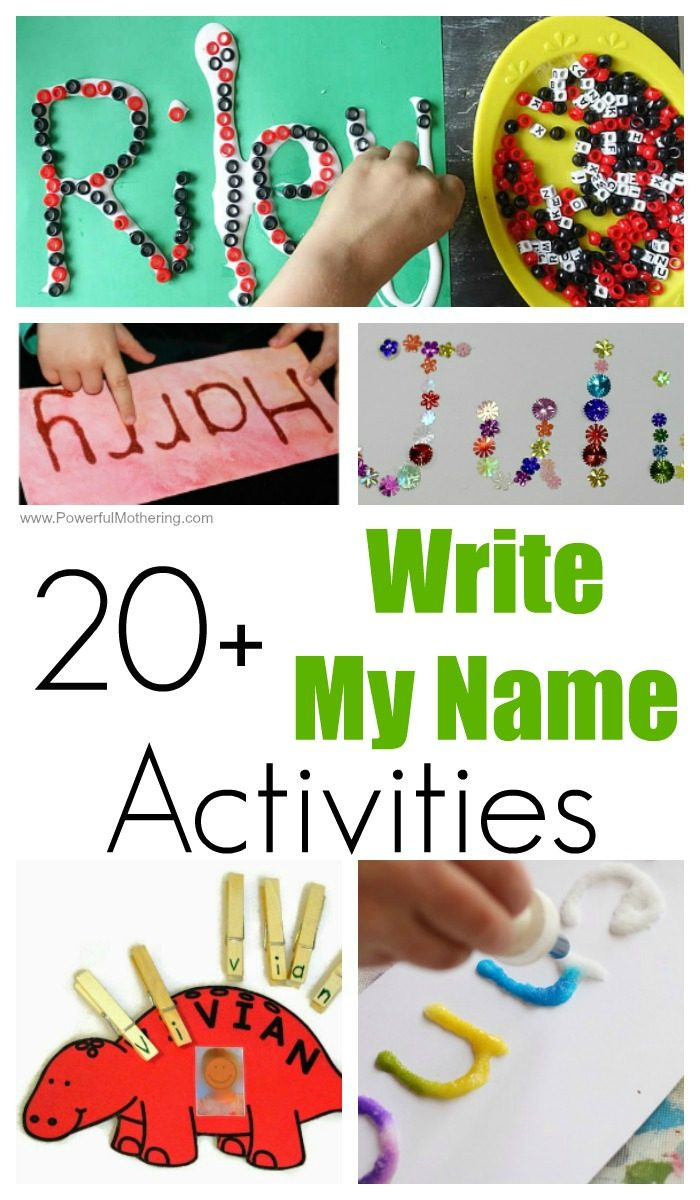 Best ideas about Fun Activities For Preschoolers . Save or Pin 20 FUN Write My Name Activities for Toddlers and Preschoolers Now.