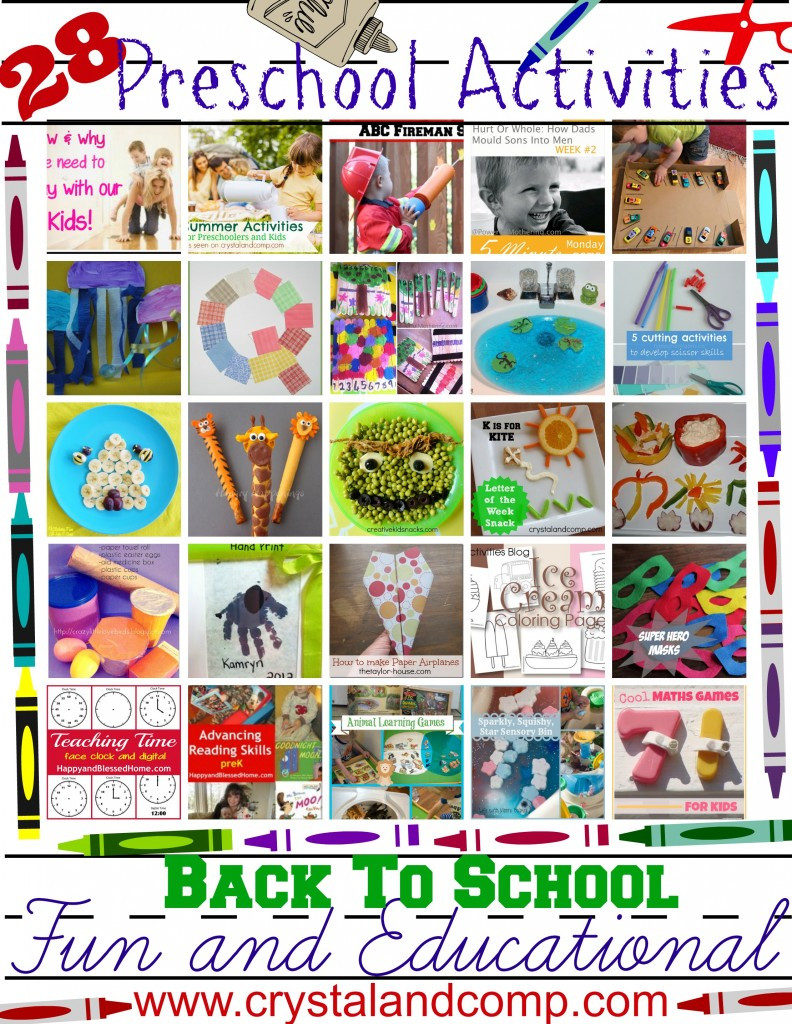 Best ideas about Fun Activities For Preschoolers . Save or Pin 28 Fun and Educational Preschool Activities For Back To Now.