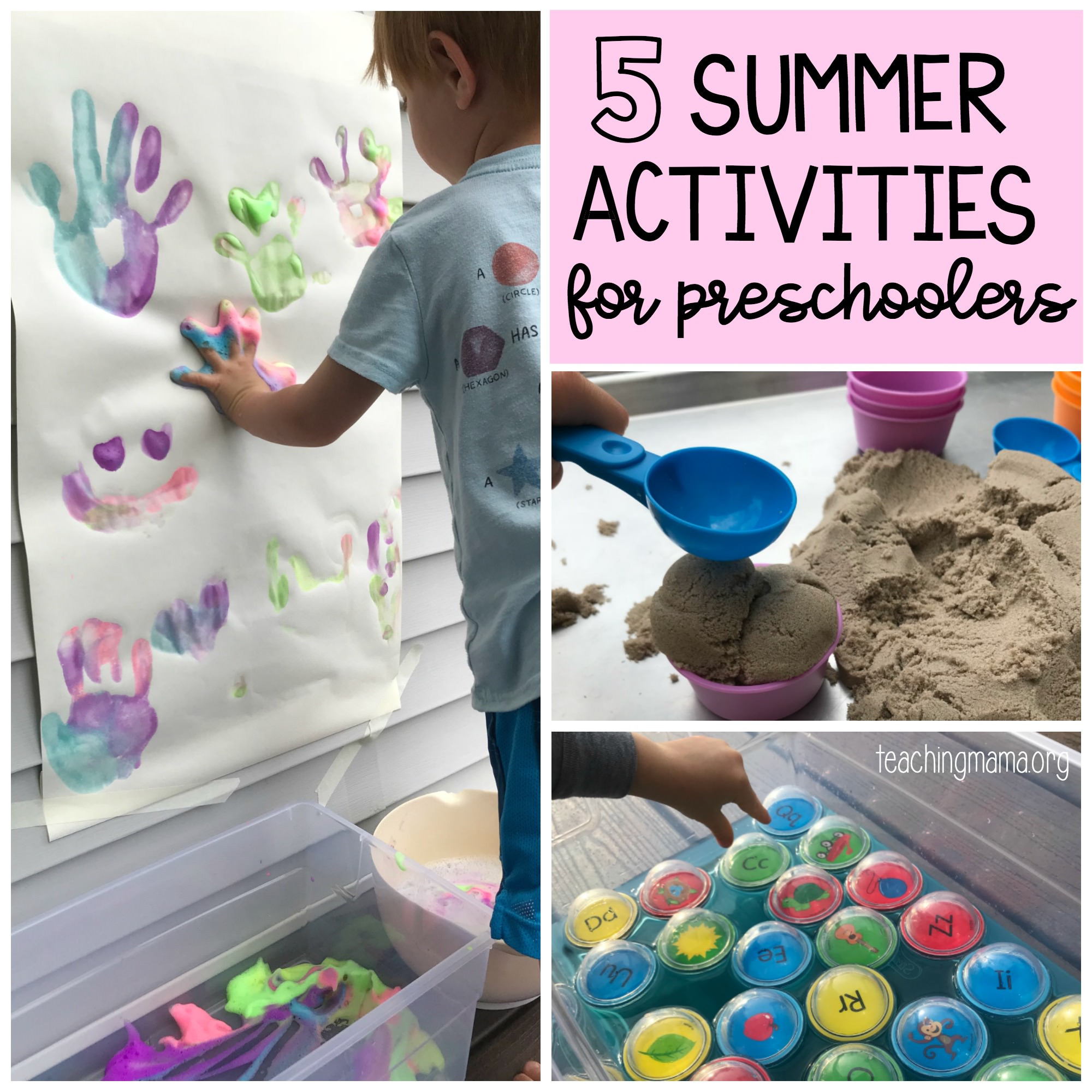 Best ideas about Fun Activities For Preschoolers . Save or Pin 5 Summer Activities for Preschoolers Now.
