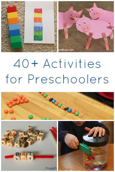 Best ideas about Fun Activities For Preschoolers . Save or Pin 40 Activities for Preschoolers Now.