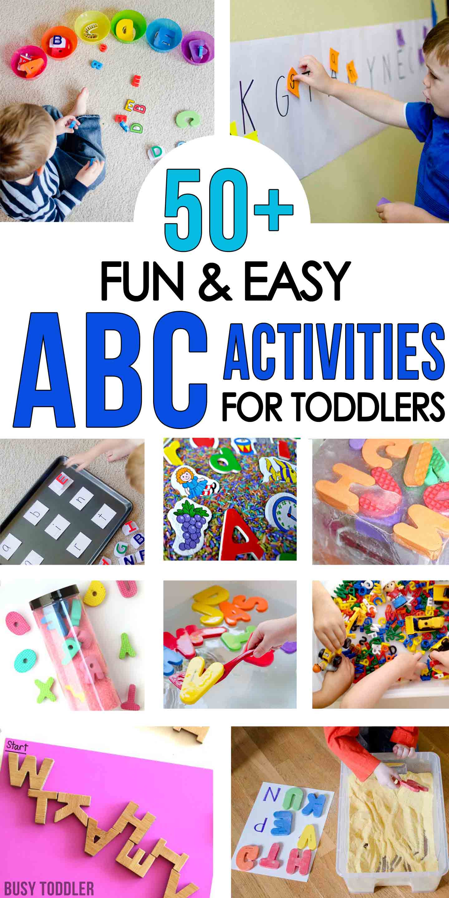 Best ideas about Fun Activities For Preschoolers . Save or Pin 50 Alphabet Activities for Toddlers Busy Toddler Now.