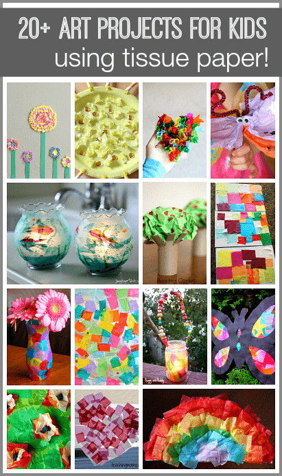 Best ideas about Fun Art Activities For Preschoolers . Save or Pin 20 Tissue Paper Crafts for Kids Buggy and Buddy Now.