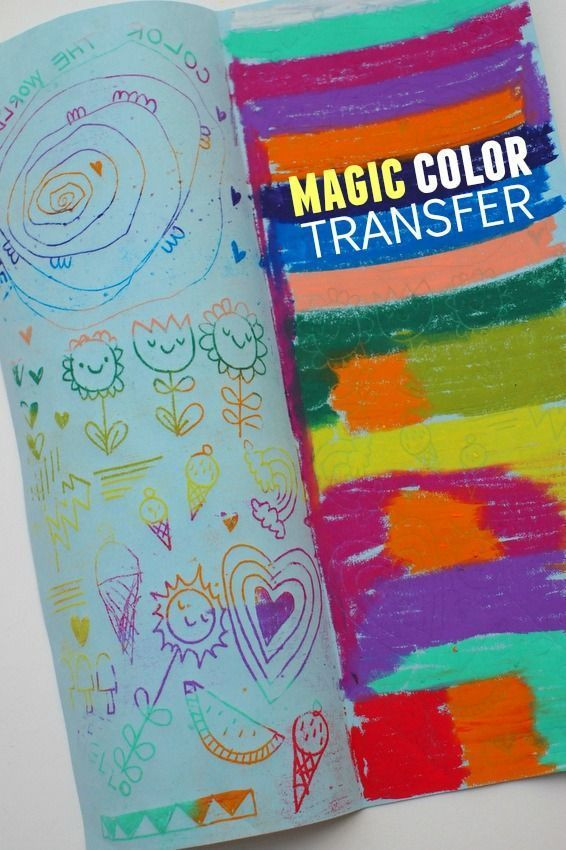 Best ideas about Fun Art Activities For Preschoolers . Save or Pin MAGIC Color Transfer Art Arts & Crafts Now.