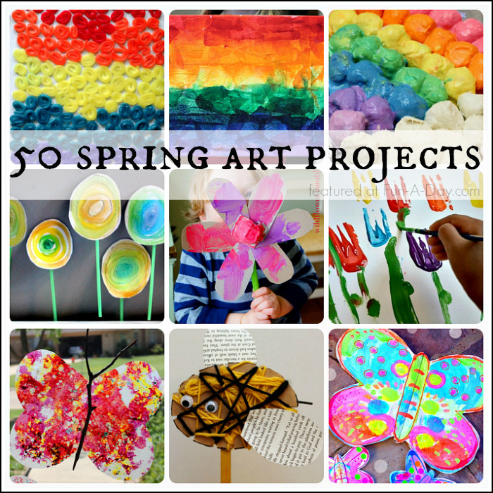 Best ideas about Fun Art Projects For Preschoolers . Save or Pin 50 Beautiful Spring Art Projects for Kids Now.