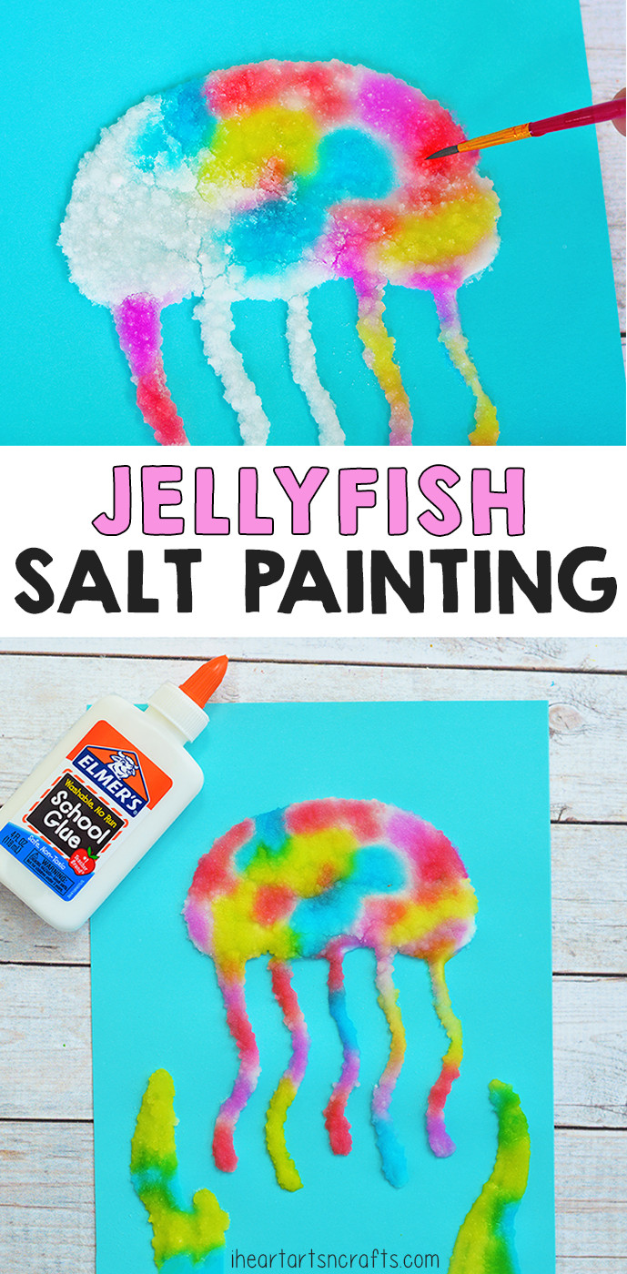 Best ideas about Fun Art Projects For Preschoolers . Save or Pin Jellyfish Salt Painting Activity For Kids Now.