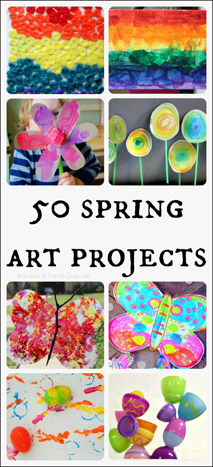 Best ideas about Fun Art Projects For Preschoolers . Save or Pin Absolutely Beautiful Spring Art Projects for Kids to Make Now.
