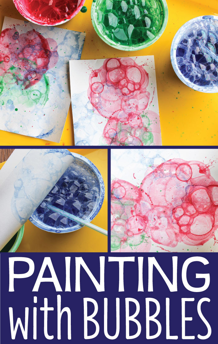 Best ideas about Fun Art Projects For Preschoolers . Save or Pin Art Activities for Kids Painting with Bubbles Early Now.