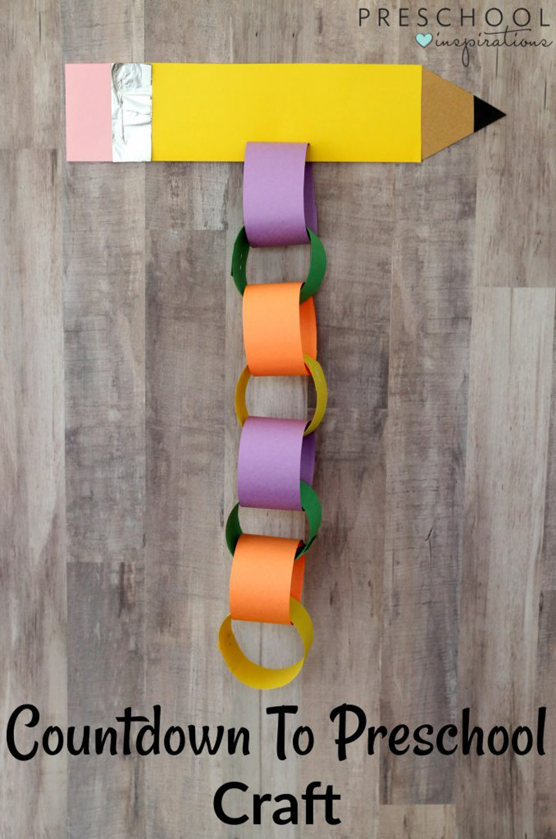 Best ideas about Fun Craft For Preschoolers . Save or Pin Countdown to Preschool Back to School Craft Preschool Now.
