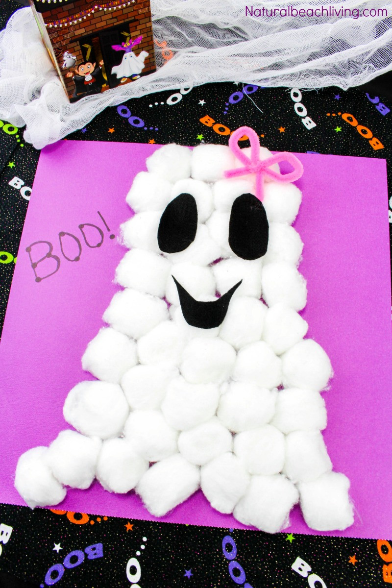 Best ideas about Fun Craft For Preschoolers . Save or Pin Easy Cotton Ball Ghost Craft for Preschoolers Natural Now.