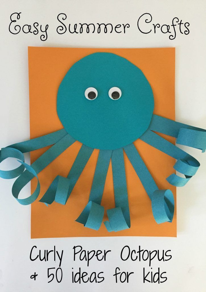 Best ideas about Fun Craft For Preschoolers . Save or Pin Easy Summer Craft for Kids Curly Paper Octopus Now.