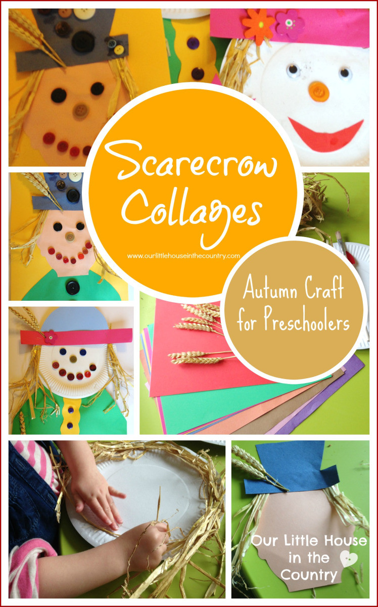 Best ideas about Fun Craft For Preschoolers . Save or Pin Scarecrow Collages – Autumn Fall Crafts for Kids Now.