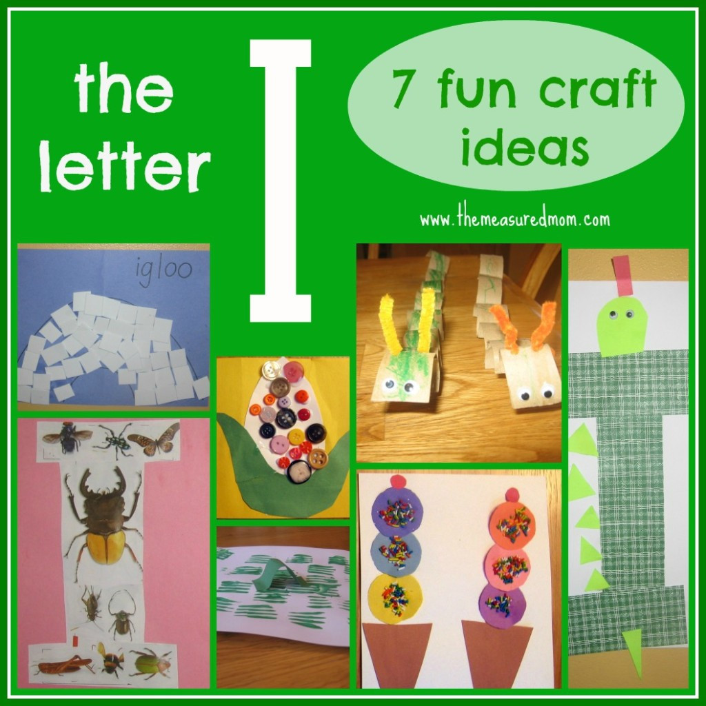 Best ideas about Fun Craft For Preschoolers . Save or Pin 7 Fun Crafts for the Letter I The Measured Mom Now.