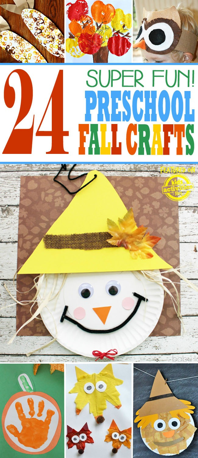 Best ideas about Fun Craft For Preschoolers . Save or Pin 24 SUPER FUN PRESCHOOL FALL CRAFTS Kids Activities Now.