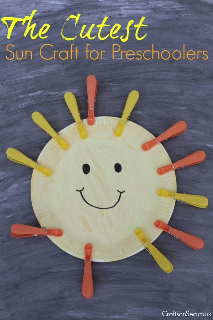 Best ideas about Fun Craft For Preschoolers . Save or Pin The Cutest Sun Craft for Preschoolers Crafts on Sea Now.