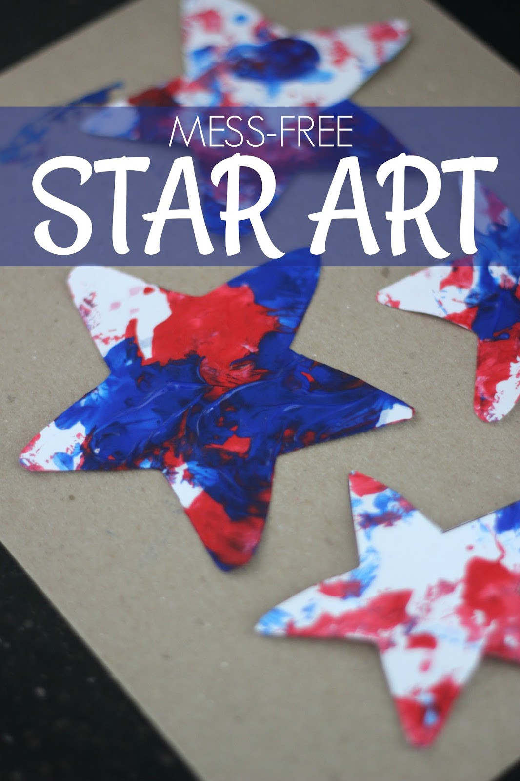 Best ideas about Fun Craft For Preschoolers . Save or Pin Toddler Approved Mess Free Patriotic Star Painting Now.