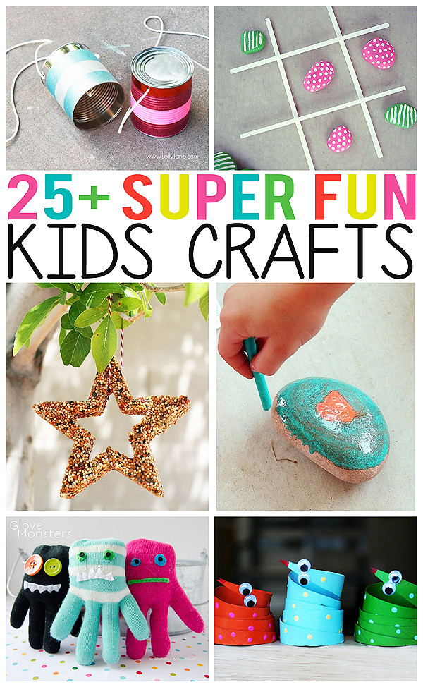 Best ideas about Fun Craft Ideas For Kids . Save or Pin 25 Super Fun Kids Crafts Eighteen25 Now.