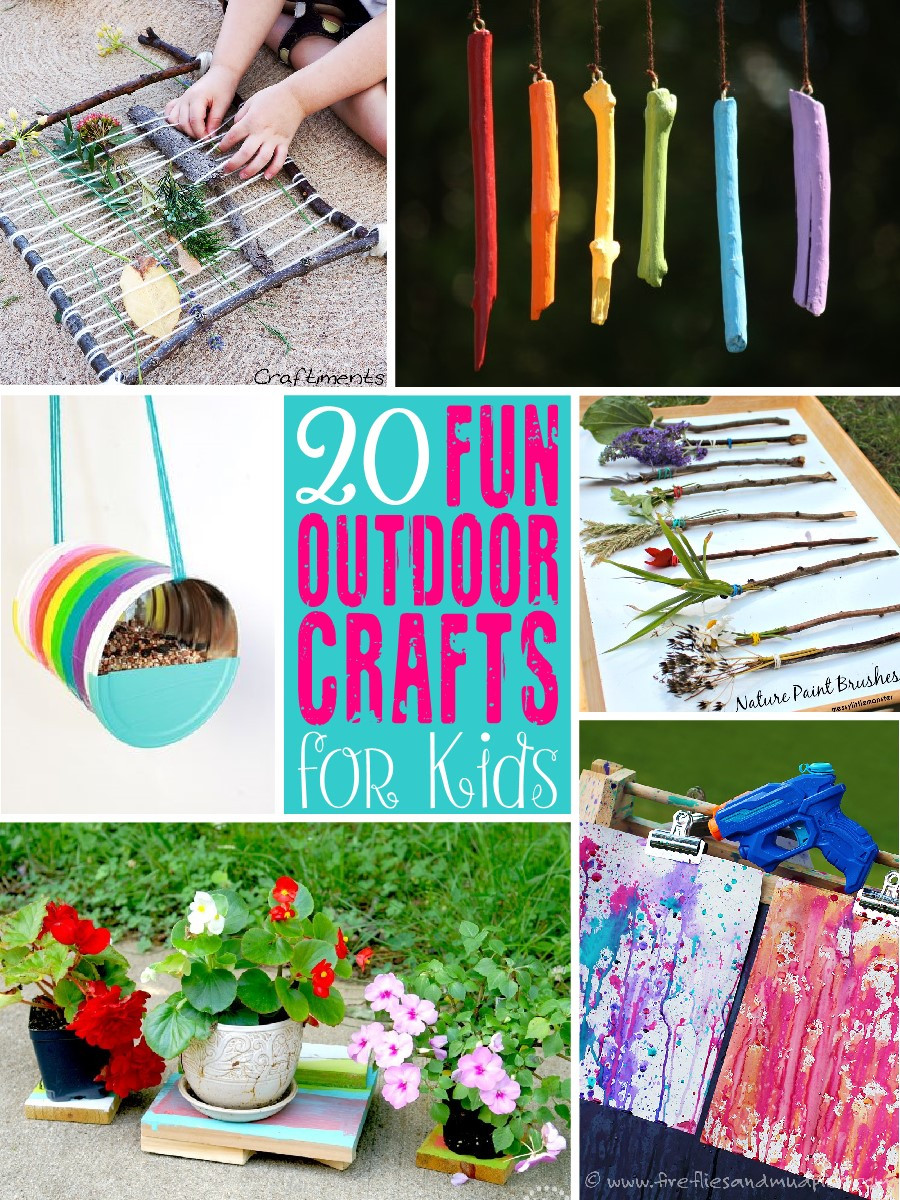 Best ideas about Fun Craft Ideas For Kids . Save or Pin 20 Fun Outdoor Craft Ideas for Kids The Scrap Shoppe Now.