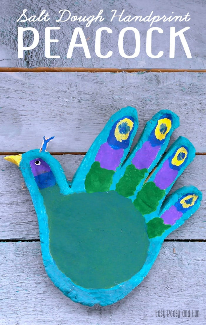 Best ideas about Fun Crafts For Kids . Save or Pin Handprint Peacock Salt Dough Craft for Kids Easy Peasy Now.