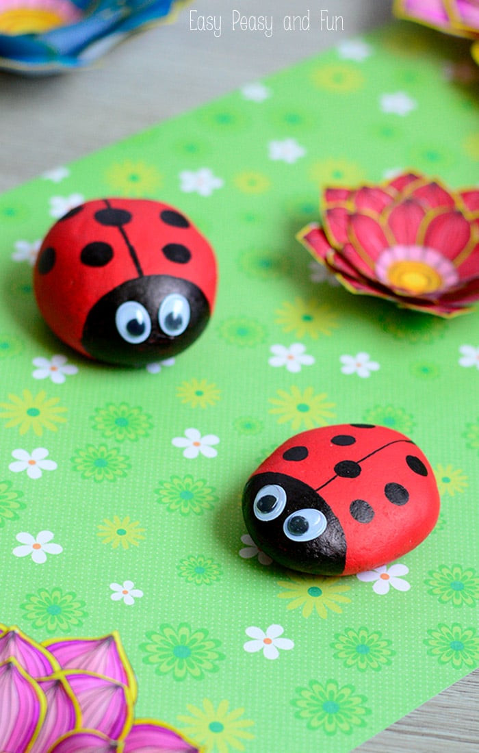 Best ideas about Fun Crafts For Kids . Save or Pin Cute Painted Ladybug Rocks Rock Crafts for Kids Easy Now.