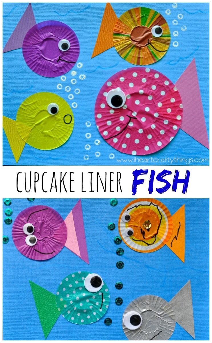 Best ideas about Fun Crafts For Preschoolers . Save or Pin Fish Kids Craft out of Cupcake Liners Now.