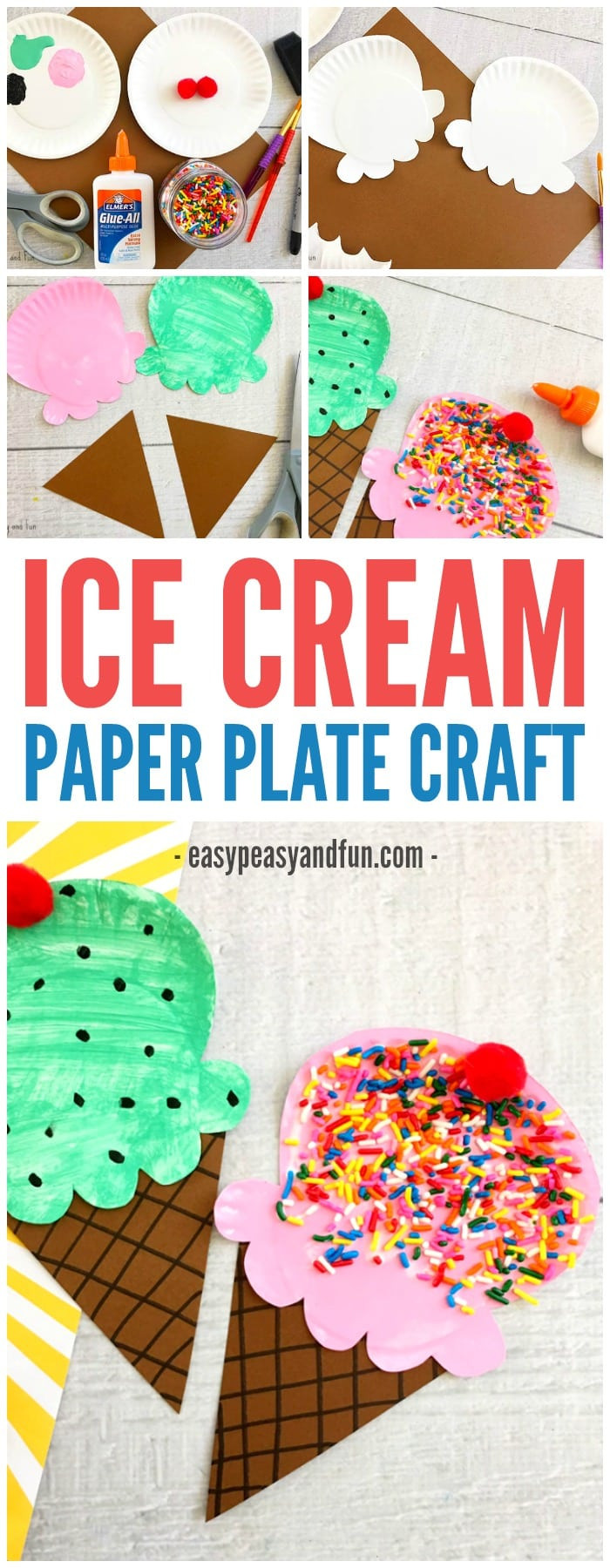 Best ideas about Fun Crafts For Preschoolers . Save or Pin Paper Plate Ice Cream Craft Summer Craft Idea for Kids Now.