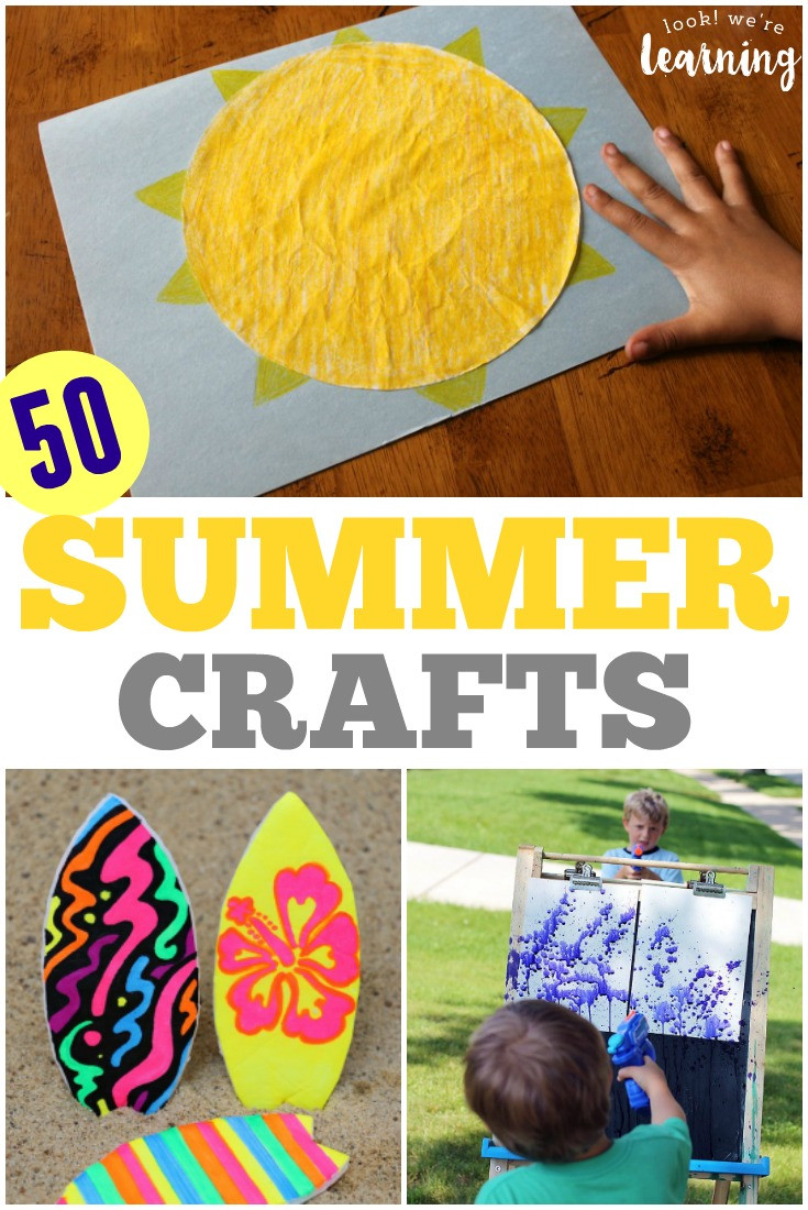 Best ideas about Fun Crafts For Preschoolers . Save or Pin 50 Super Easy Super Fun Summer Crafts for Kids Now.