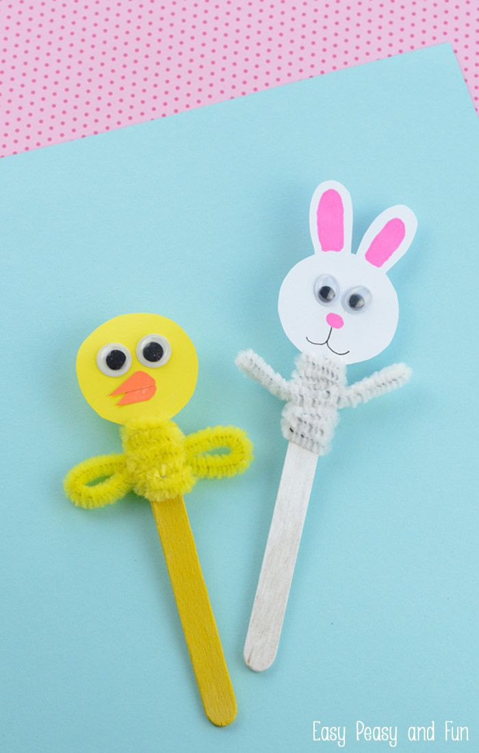 Best ideas about Fun Easy Kids Craft . Save or Pin Easter Craft Stick Puppets Easter Now.