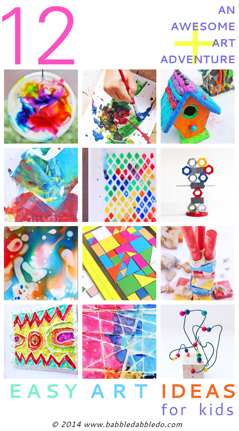 Best ideas about Fun Ideas For Kids . Save or Pin 12 Easy Art Ideas for Kids Babble Dabble Do Now.