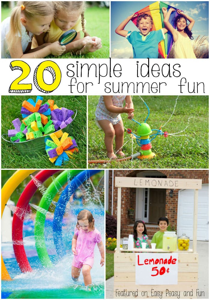 Best ideas about Fun Ideas For Kids . Save or Pin 20 Super Fun Summer Activities for Kids Easy Peasy and Fun Now.