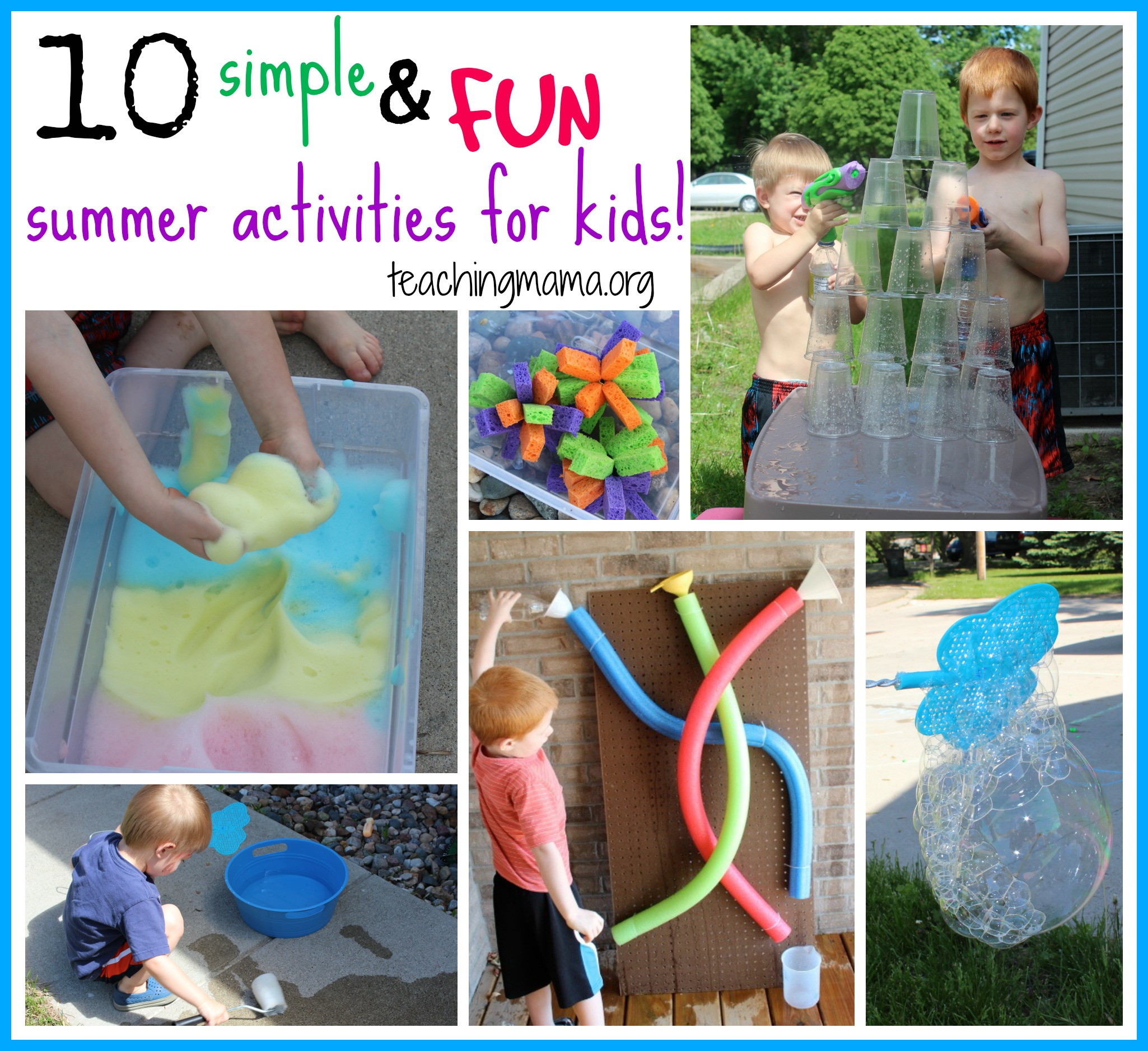 Best ideas about Fun Ideas For Kids . Save or Pin 10 Simple and Fun Summer Activities for Kids Now.