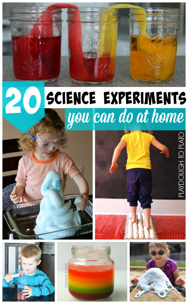 Best ideas about Fun Projects For Kids To Do At Home . Save or Pin 20 Kids Science Experiments You Can Do At Home Now.