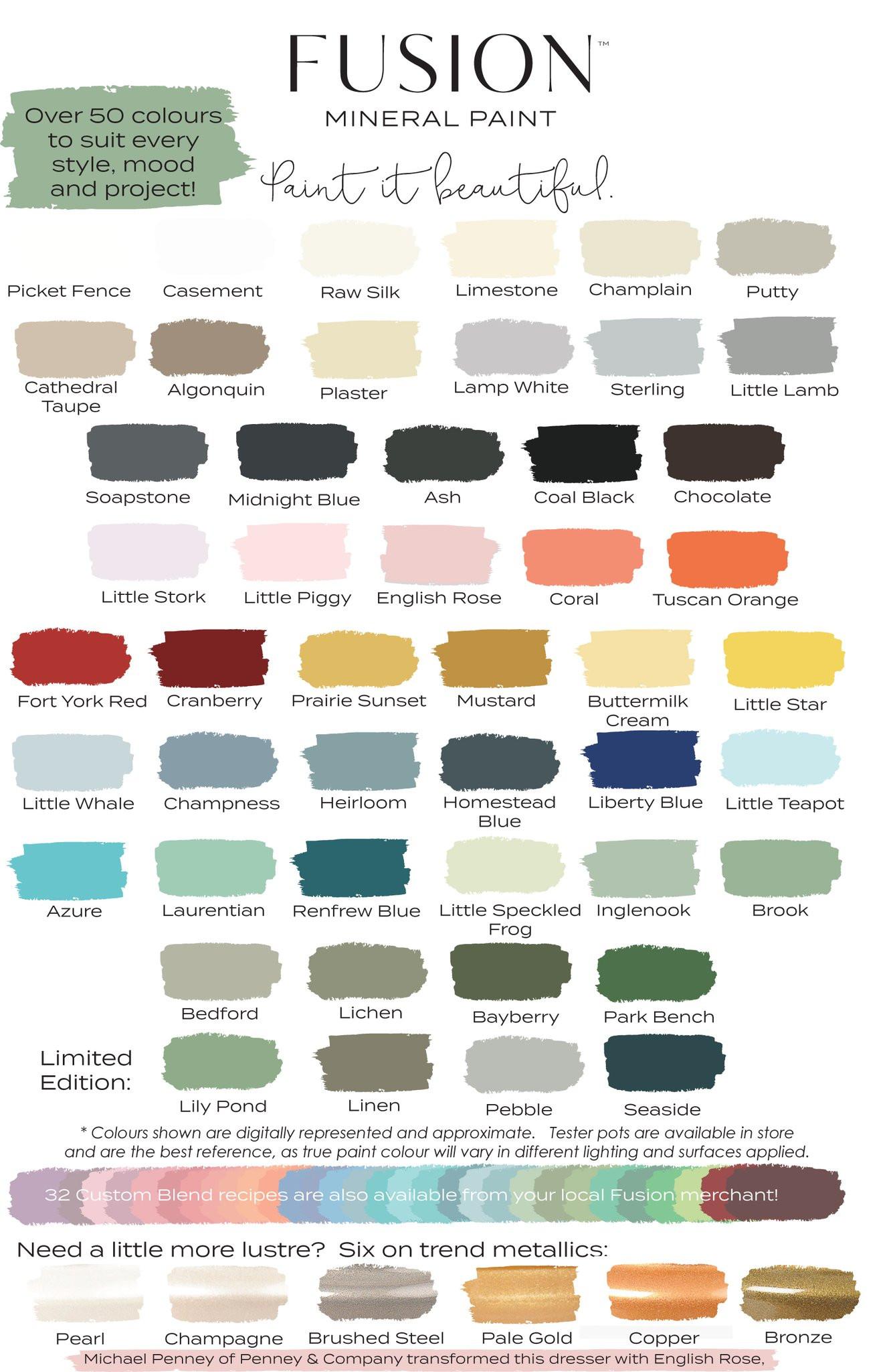 Best ideas about Fusion Mineral Paint Colors . Save or Pin Fusion Mineral Paint – Emily Rose Vintage Now.