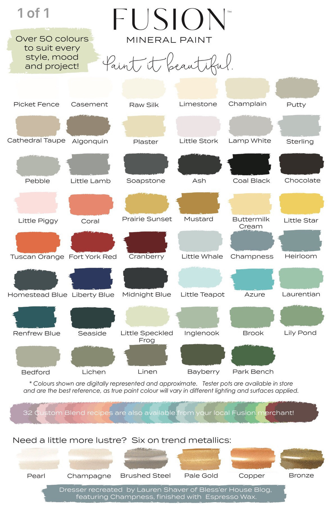 Best ideas about Fusion Mineral Paint Colors . Save or Pin Fusion Mineral Paints Dear Olympia Shop line Retailer Now.
