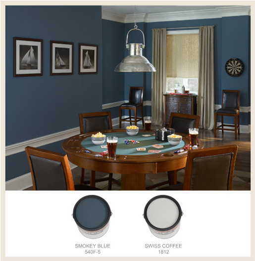 Best ideas about Game Room Colors . Save or Pin Colorfully BEHR The Man Cave Now.