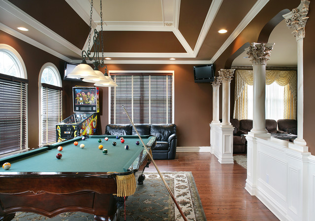 Best ideas about Game Room Colors . Save or Pin Game Room Traditional Family Room New York by Now.