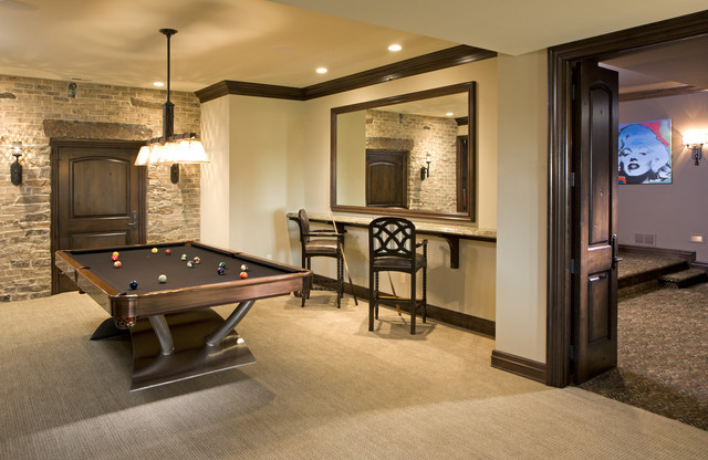 Best ideas about Game Room Colors . Save or Pin Game Room Traditional Basement minneapolis by John Now.
