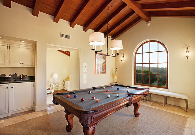 Best ideas about Game Room In Spanish . Save or Pin Hope Ranch Spanish Style Custom Home Game Room Now.