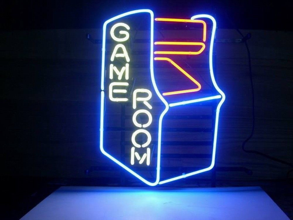 Best ideas about Game Room Neon Sign . Save or Pin New Video Game Room Real Glass Neon Light Sign Home Beer Now.
