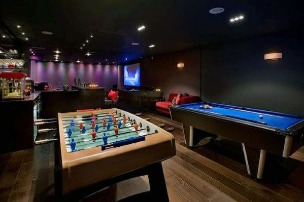Best ideas about Game Room Pictures . Save or Pin 50 Gaming Man Cave Design Ideas For Men Manly Home Retreats Now.