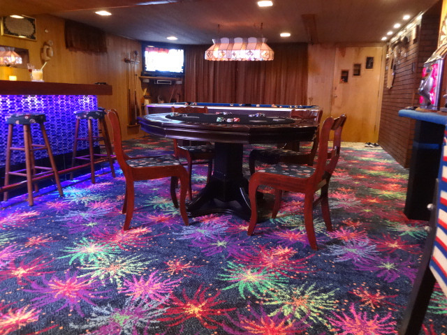 Best ideas about Game Room Rugs . Save or Pin Joy Carpets Neon Lights Glow In The Dark Carpet Tile Squares Now.