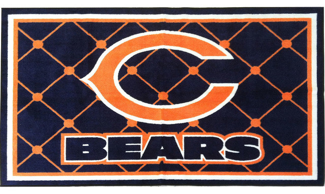 Best ideas about Game Room Rugs . Save or Pin NFL Chicago Bears 4 x 6 Area Rug Contemporary Game Now.