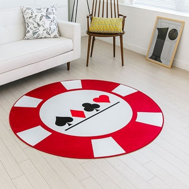 Best ideas about Game Room Rugs . Save or Pin Round Poker Game Rug Player s Room Card Decor Casino Floor Now.