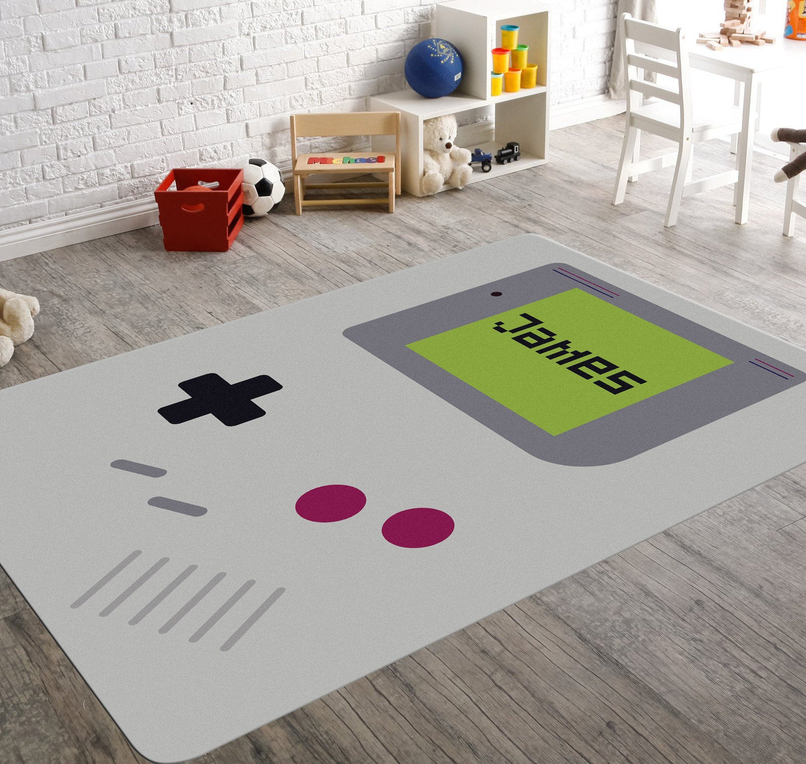 Best ideas about Game Room Rugs . Save or Pin Video Game Rug Gameboy Game Room Rug Name Rugs Playroom Now.