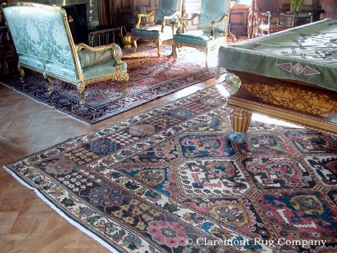 Best ideas about Game Room Rugs . Save or Pin Pair of geometric antique Persian rugs in elegant game room Now.